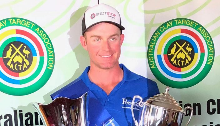 James Willett with his trophies at the National championships in Echuca