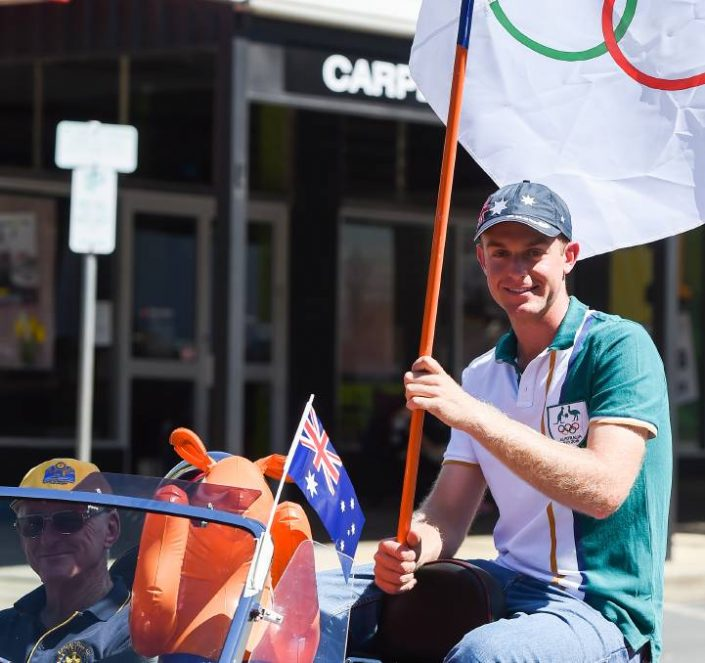 Olympic record holder James Willett was on hand to join the parade and enjoy the festivities on Sunday.